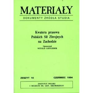 Materiały, zeszyt 10