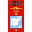 Hiszpania Portugalia. Mapa samochodowa